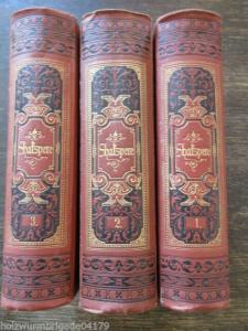 William Shakspere`s Shakesperes sämmtliche dramatische Werke 3 Bände um 1890