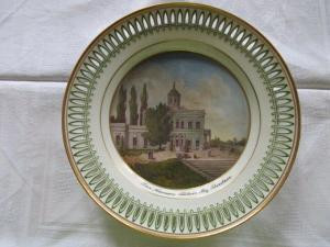 KPM Berlin Carl Daniel Freydanck Durchbruch Teller Mamor Palais Potsdam um 1820
