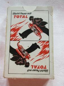 Alte Skatkarten Werbung Feuerlöscher Ass Altenburg Thüringen 1940 TOP