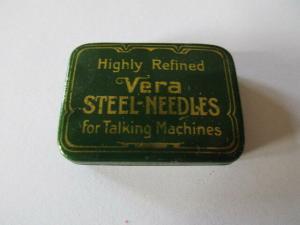 Seltene alte Grammophon Nadeln Highly Refined VERA Steel Needles Original Dose