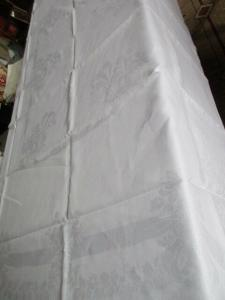 Schöne alte Halbleinen Tischdecke Tafeltuch Jugendstil 200 x 160 cm
