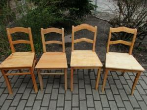 4 alte Stühle Jugendstil um 1900 Holz  Nr. 1