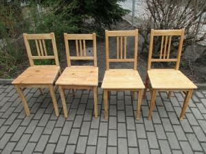 4 alte Stühle Jugendstil um 1900 Holz  Nr. 2