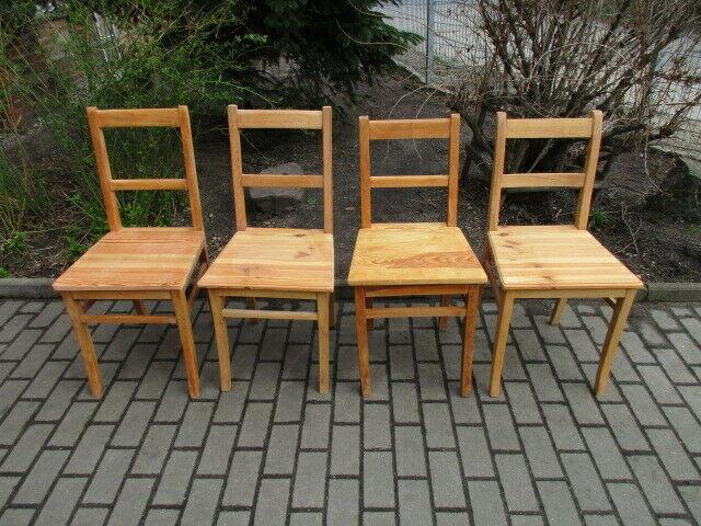 4 alte Stühle Jugendstil um 1900 Holz  Nr. 3 0