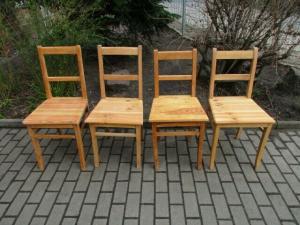 4 alte Stühle Jugendstil um 1900 Holz  Nr. 3