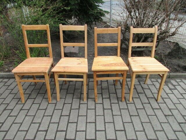 4 alte Stühle Jugendstil um 1900 Holz  Nr. 3 1