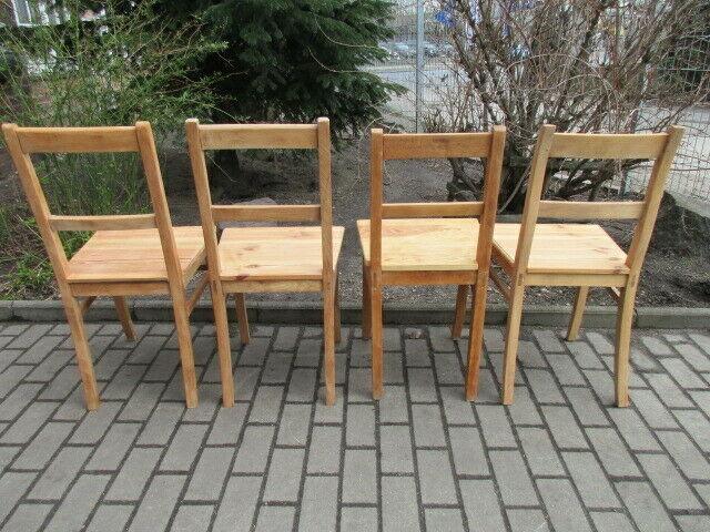 4 alte Stühle Jugendstil um 1900 Holz  Nr. 3 10