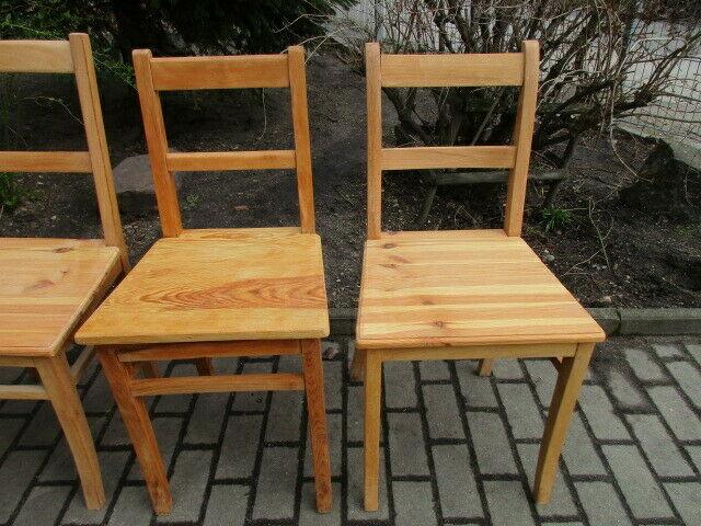 4 alte Stühle Jugendstil um 1900 Holz  Nr. 3 3