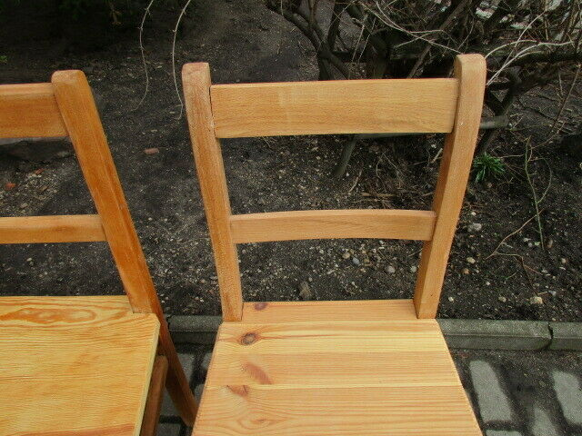 4 alte Stühle Jugendstil um 1900 Holz  Nr. 3 4