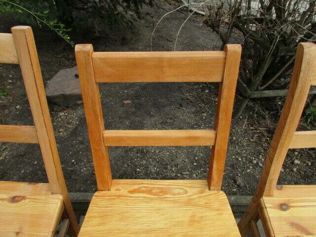 4 alte Stühle Jugendstil um 1900 Holz  Nr. 3 5