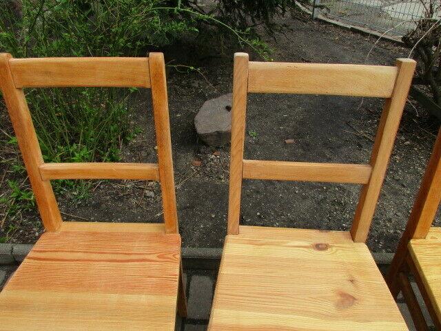 4 alte Stühle Jugendstil um 1900 Holz  Nr. 3 6