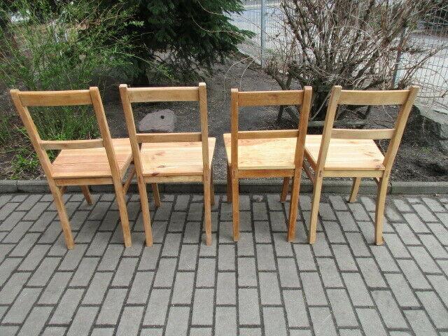 4 alte Stühle Jugendstil um 1900 Holz  Nr. 3 9