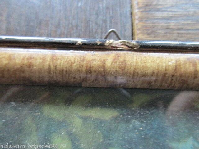 Alter Biedermeier Bilderrahmen mit Glas Druck eines Pärchens 36 x 25,5 cm 3