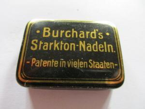 Seltene alte Grammophon Nadeln Burchard`s Starktonnadeln Needles Original Dose
