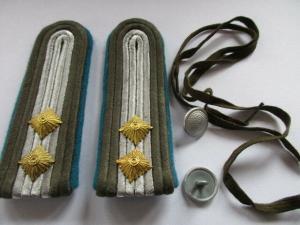 NVA 1 paar Schulterstücke  Oberfähnrich   Luftstreitkräfte  grober Stoff