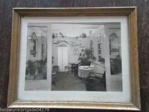 Altes Foto Friseursalon um 1920 mit Werbung Silverwa Kaltwell Präparat