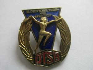 DDR Abzeichen III. deutsches Turn- und Sportfest  Leipzig 13-16.8.1959 DTSB