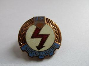 DDR FDJ  Kontrollposten der FDJ  Bronze 1973-