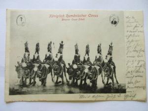 Alte Ak Königlich Rumänischer Circus Cesar Sidoli gelaufen 1900