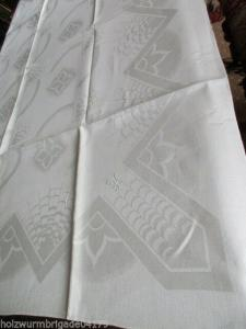 Herrliches altes Leinen Tischtuch Tafeltuch feinstes Jugendstil um 1910 Entwurf?