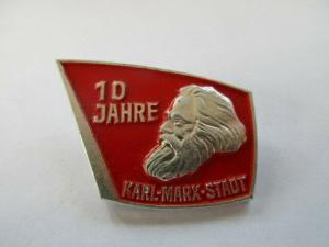 DDR Abzeichen 10Jahre Karl-Marx-Stadt ( Chemnitz )