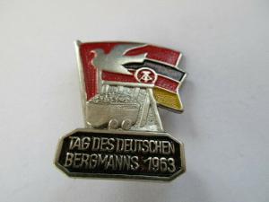 DDR Abzeichen Tag des Bergmanns  1963