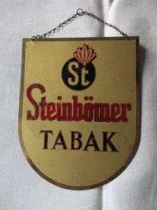 Seltenes altes Blechschild Steinbömer Tabak Werbung Original