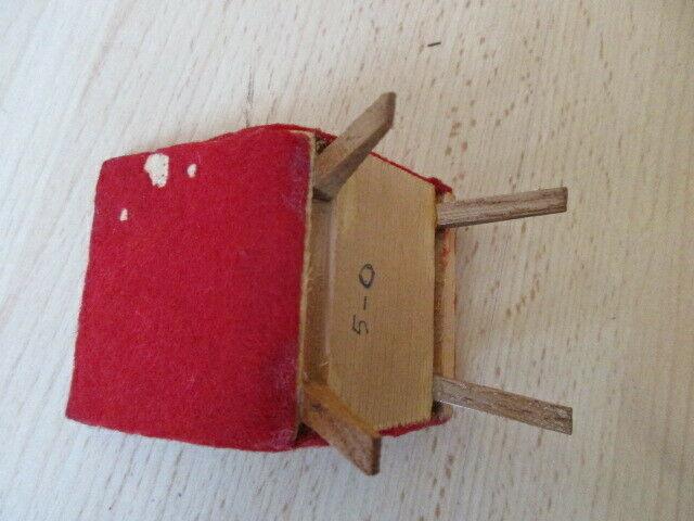 Wohnstube Wohnzimmer Sessel Tisch Schrank Puppenstube Holz 50/ 60er Jahre 8