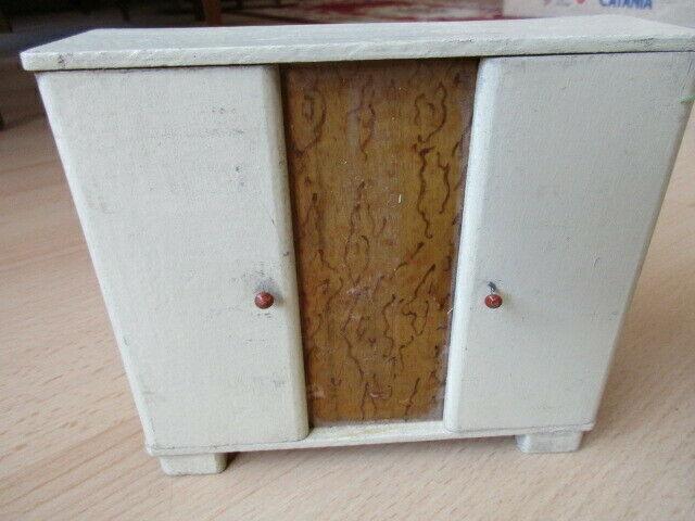 Schlafzimmer komplett Puppenstube Puppenhaus Doll House Holz 30/40er Jahre 5