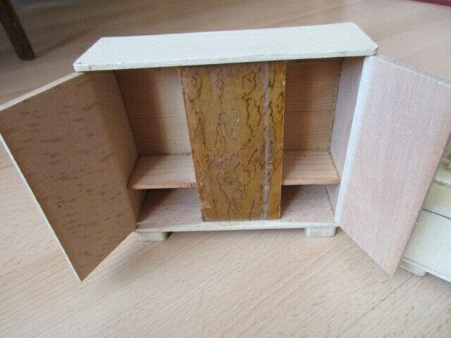Schlafzimmer komplett Puppenstube Puppenhaus Doll House Holz 30/40er Jahre 6