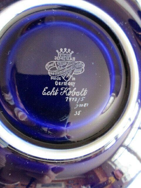 Ilmenau Graf Henneberg alte Sammeltasse Sammelgedeck Echt Kobalt Golddekor 4