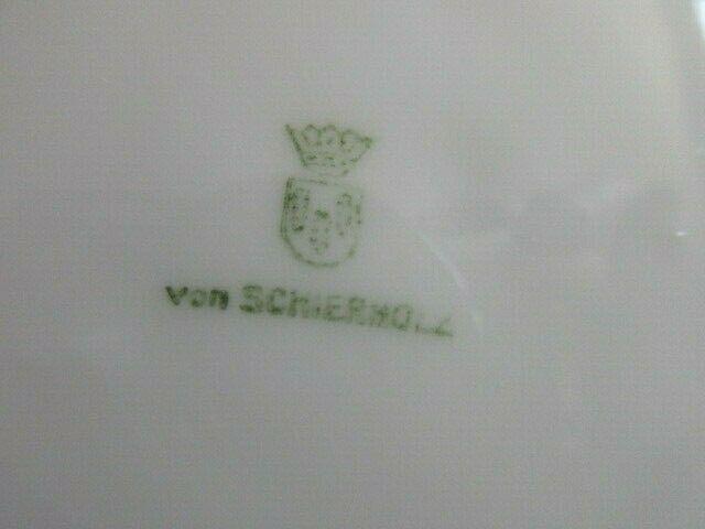 Alte Sammeltasse Sammelgedeck Schierholz Weinrot Golddekor 5