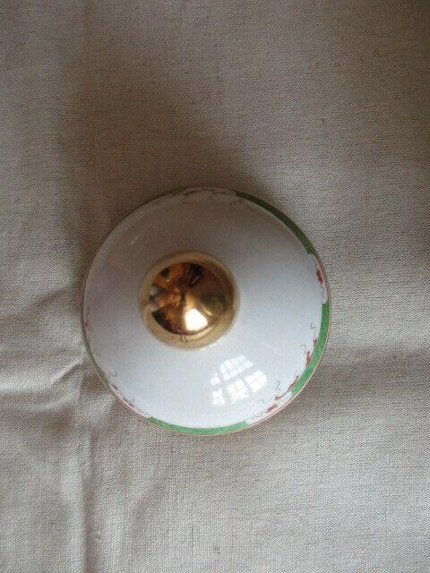 Freiberger Porzellan wunderschöne Deckelvase Vase grüner Drachen Ming 3