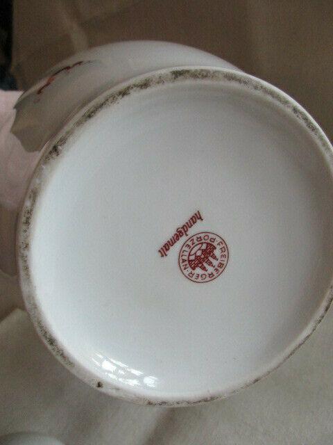 Freiberger Porzellan wunderschöne Deckelvase Vase grüner Drachen Ming 6