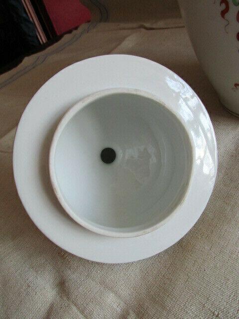 Freiberger Porzellan wunderschöne Deckelvase Vase grüner Drachen Ming 7