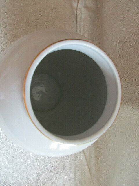 Freiberger Porzellan wunderschöne Deckelvase Vase schwarz grau Drachen Ming 3