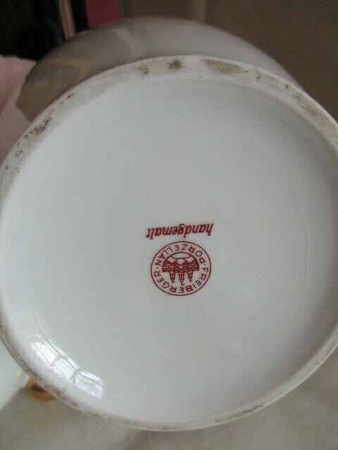 Freiberger Porzellan wunderschöne Deckelvase Vase schwarz grau Drachen Ming 7