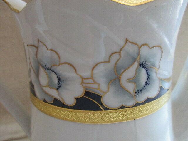 Winterling Markleuthen Alte Kaffeekanne Blumenmalerei Golddekor Top