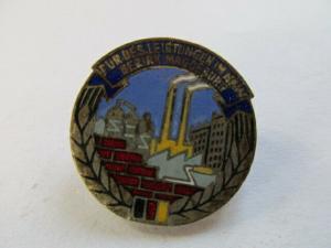 DDR Abzeichen Magdeburg Aufbaunadel Silber