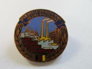 DDR Abzeichen Magdeburg Aufbaunadel Bronze
