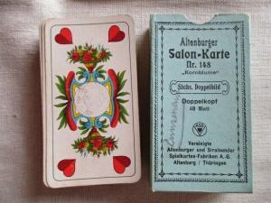 Altenburger Salon- Karte Nr. 148 Kornblume sächs. Doppelbild Doppelkopf 48 Blatt