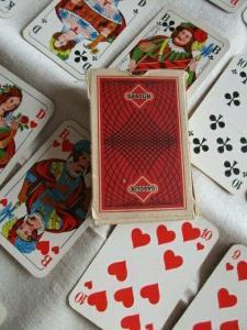 Alte Ass Altenburg Stralsund Skatkarten 32 Blatt Französich Bild Werbung Gasolin
