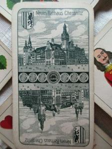 Altenburger Stralsunder Spielkarten ASS 24 Blatt Werbung Chemnitz um 1910