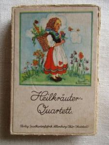 Heilkräuter Quartett Spielkartenfabrik Alternburg Lisel Lauterborn