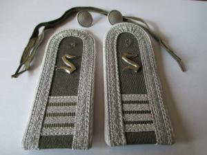 NVA 1 paar Schulterstücke Offiziersschüler 4 mot Schützen  weiß