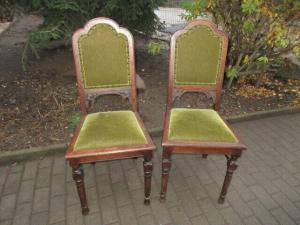 2 alte Stühle Jugendstil um 1900 Holz  Nr. 6