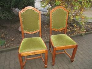 2 alte Stühle Jugendstil um 1900 Holz  Nr. 5