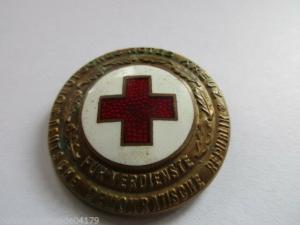 DDR DRK  Ehrenzeichen des DRK   Bronze,emailliert,Nummeriert 7988