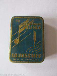 Alte Grammophon Nadeln Laubscher 50Chromic Super Original Dose
