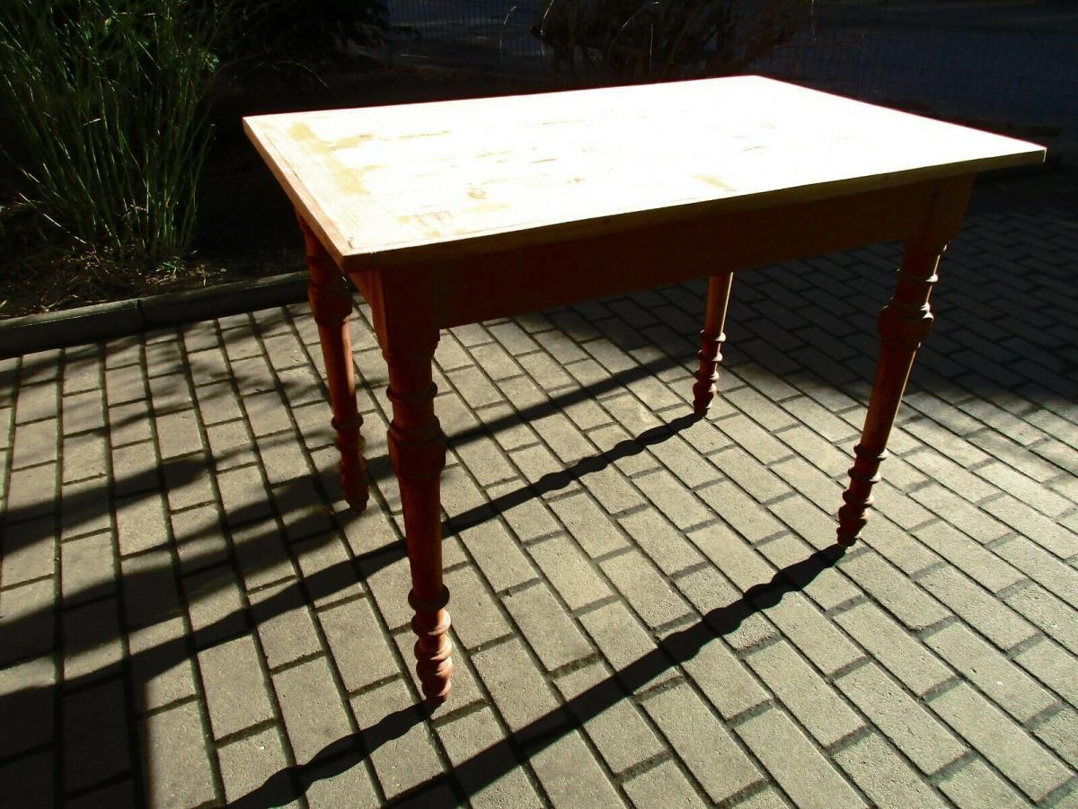 Tisch Esstisch Jugendstil um 1900 Weichholz Nr.17 0